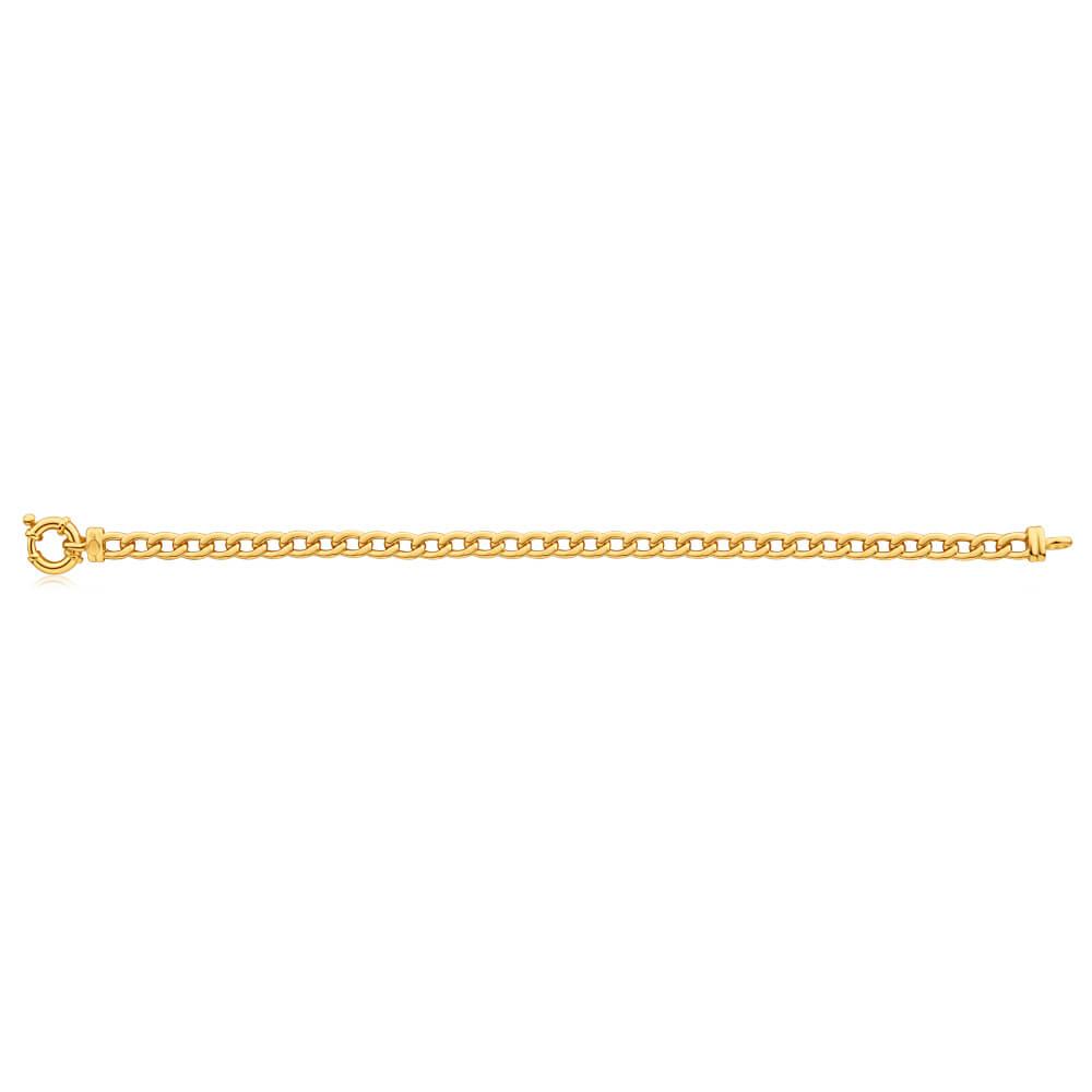 9ct Yellow Gold Copper Filled 19cm Curb Bracelet 150Gauge