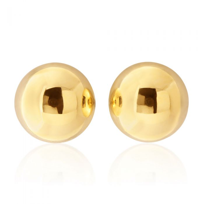 9ct Yellow Gold Ball 6mm Stud Earrings