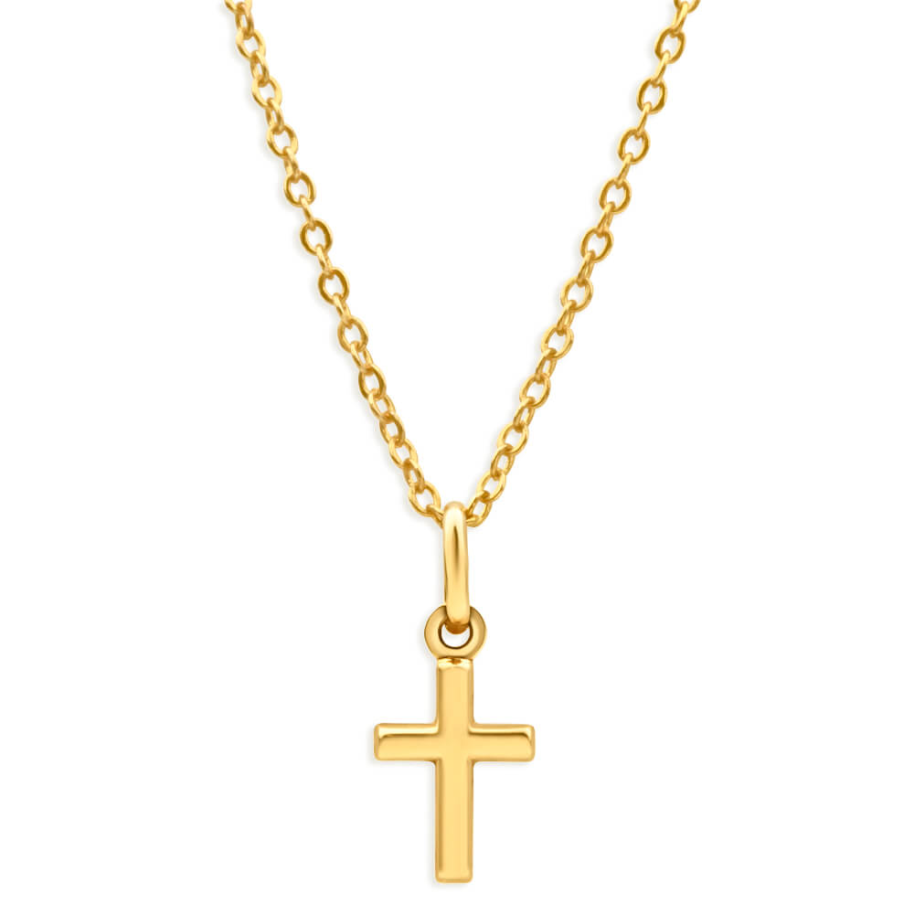9ct Yellow 14mm Cross Gold Pendant
