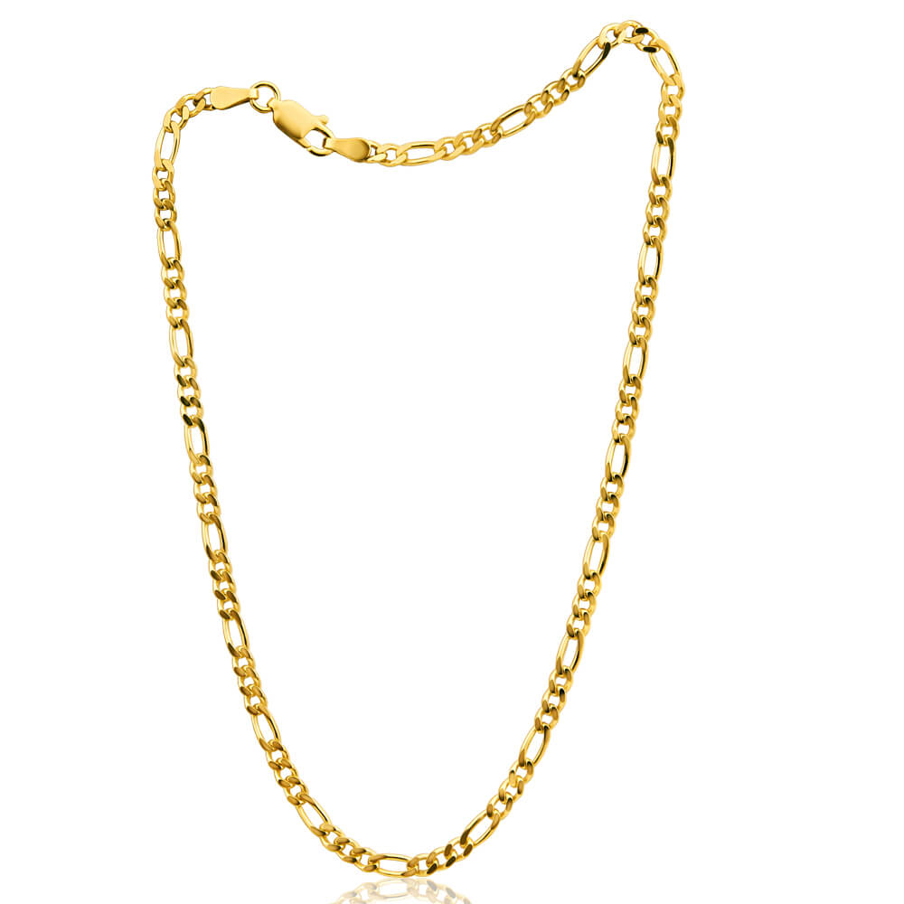9ct Yellow Gold Figaro Anklet