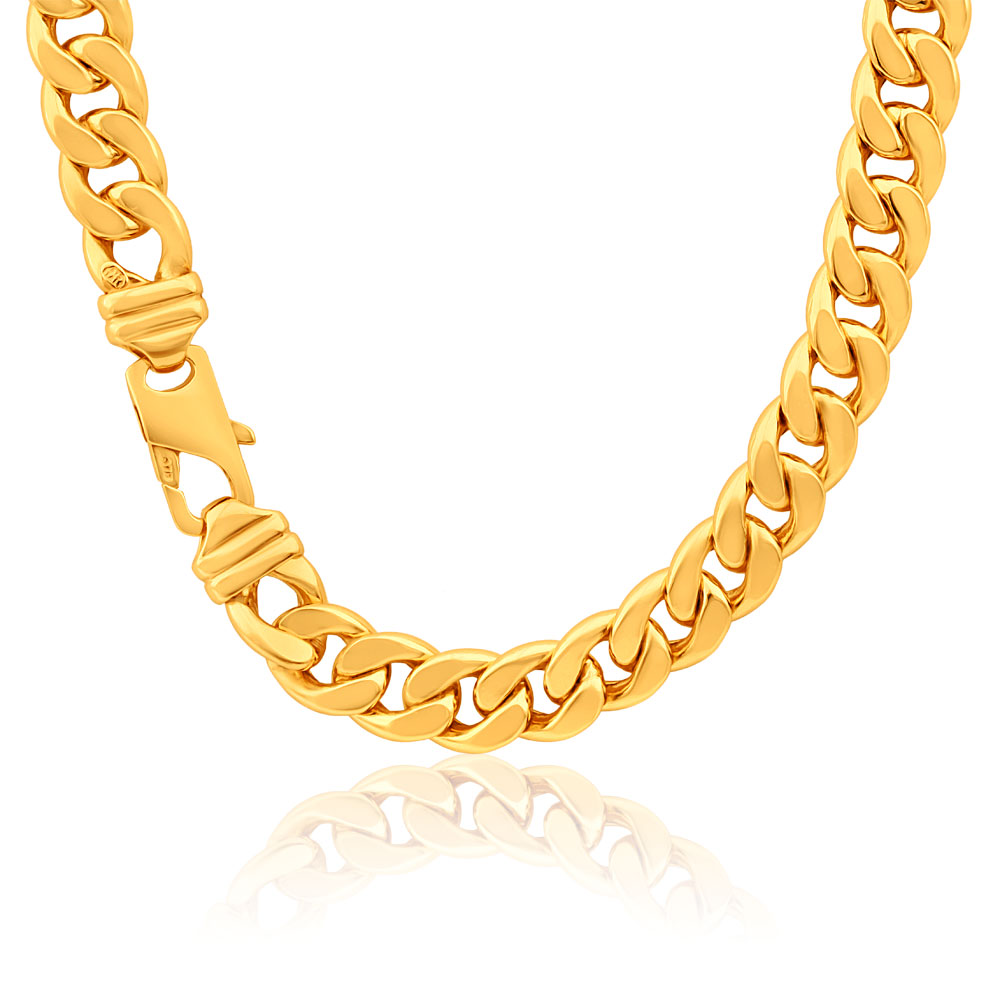 9ct Magnificent Yellow Gold Copper Filled Curb Chain