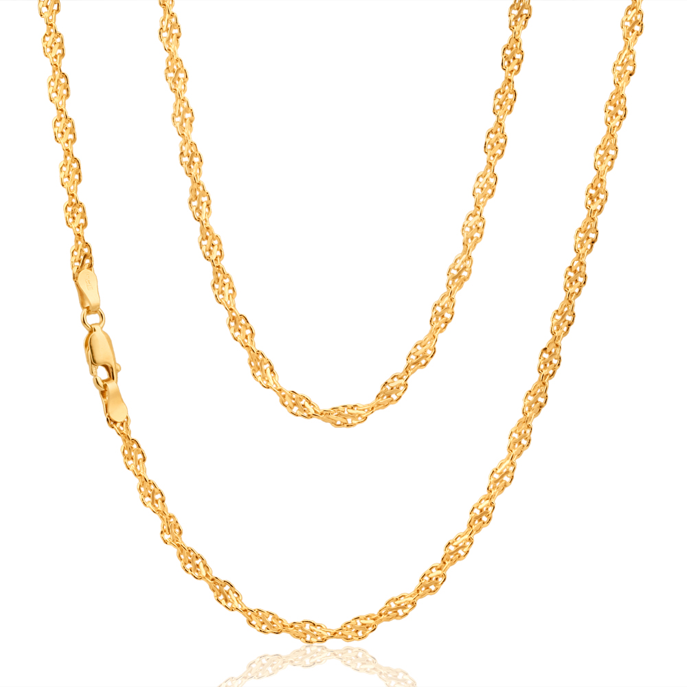 9ct AlluringYellow Gold Copper Filled Singapore Chain