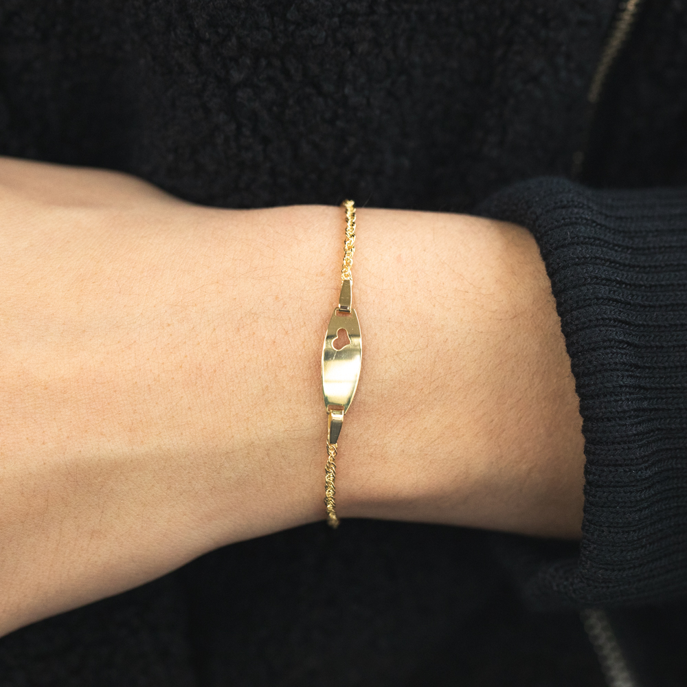 9ct Yellow Gold Silver Filled Singapore Bracelet