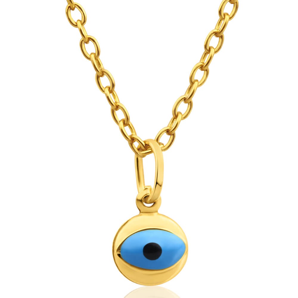 9ct Yellow Gold Evil Eye Pendant