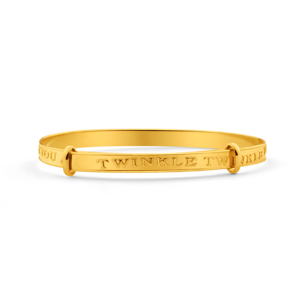 9ct Elegant Yellow Gold Baby Bangle