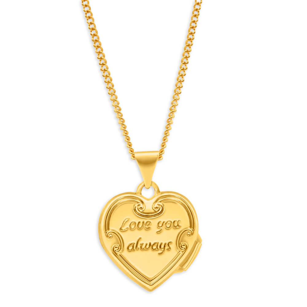 9ct 2 Toned 'Love You Always' Locket