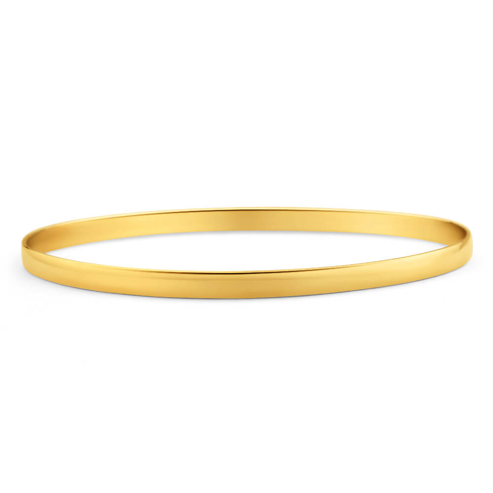 9ct Yellow Gold SOLID 4mm Bangle