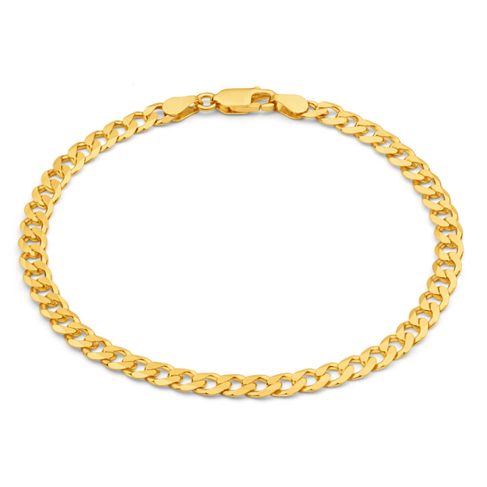 9ct Yellow Gold 21cm 120 Gauge Curb Bracelet