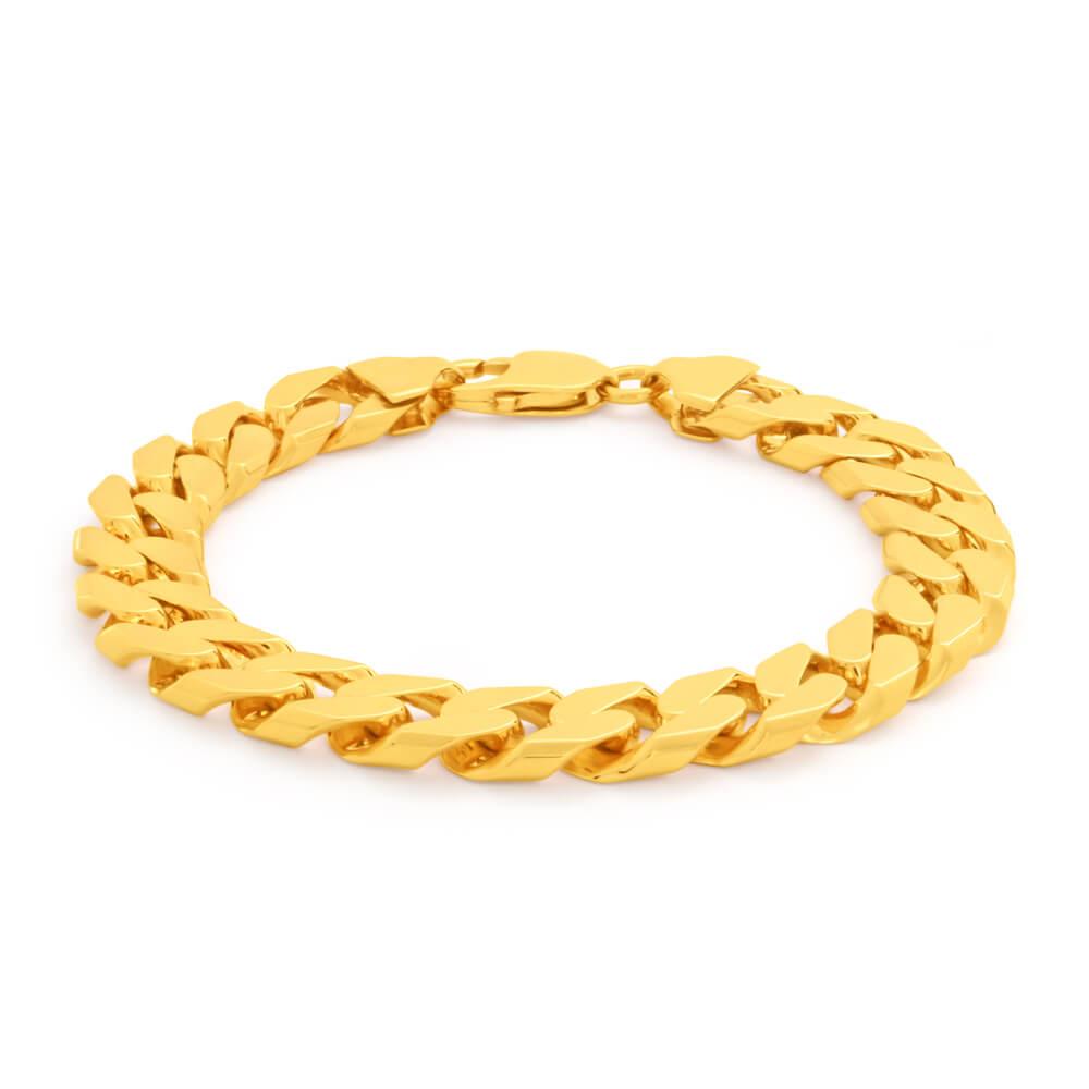 9ct Yellow Gold Divine Curb Bracelet