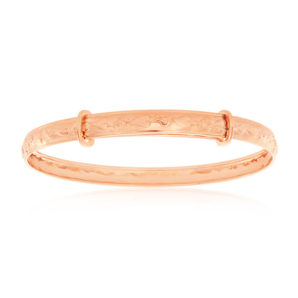 9ct Rose Gold D Shaped Baby Bangle