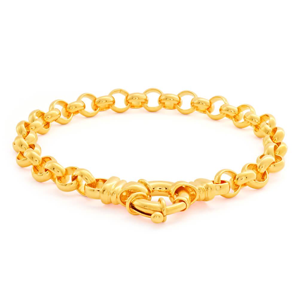 9ct Alluring Yellow Gold Belcher Bracelet
