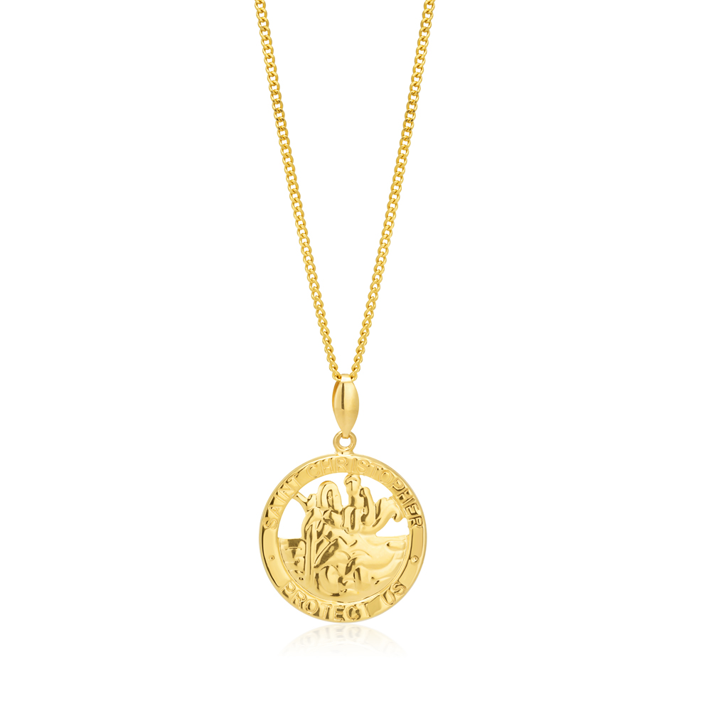 9ct Yellow Gold St Christopher Pendant