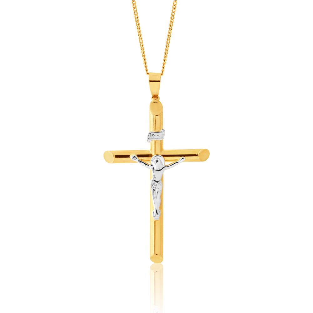 9ct Yellow Gold Cruxifix Pendant