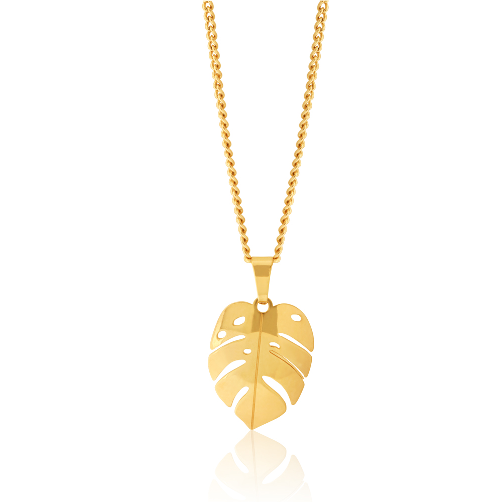 9ct Yellow Gold Leaf Pendant