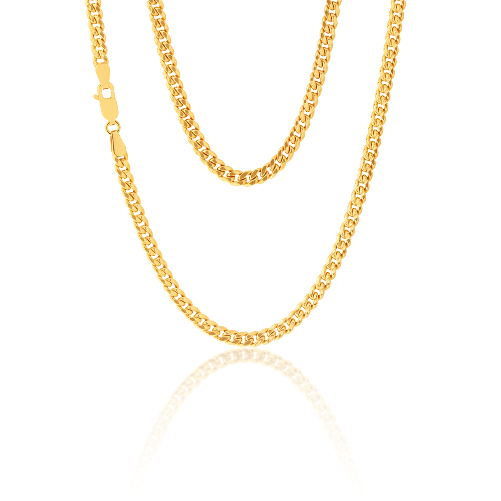 9ct Yellow Gold 45cm Curb Chain