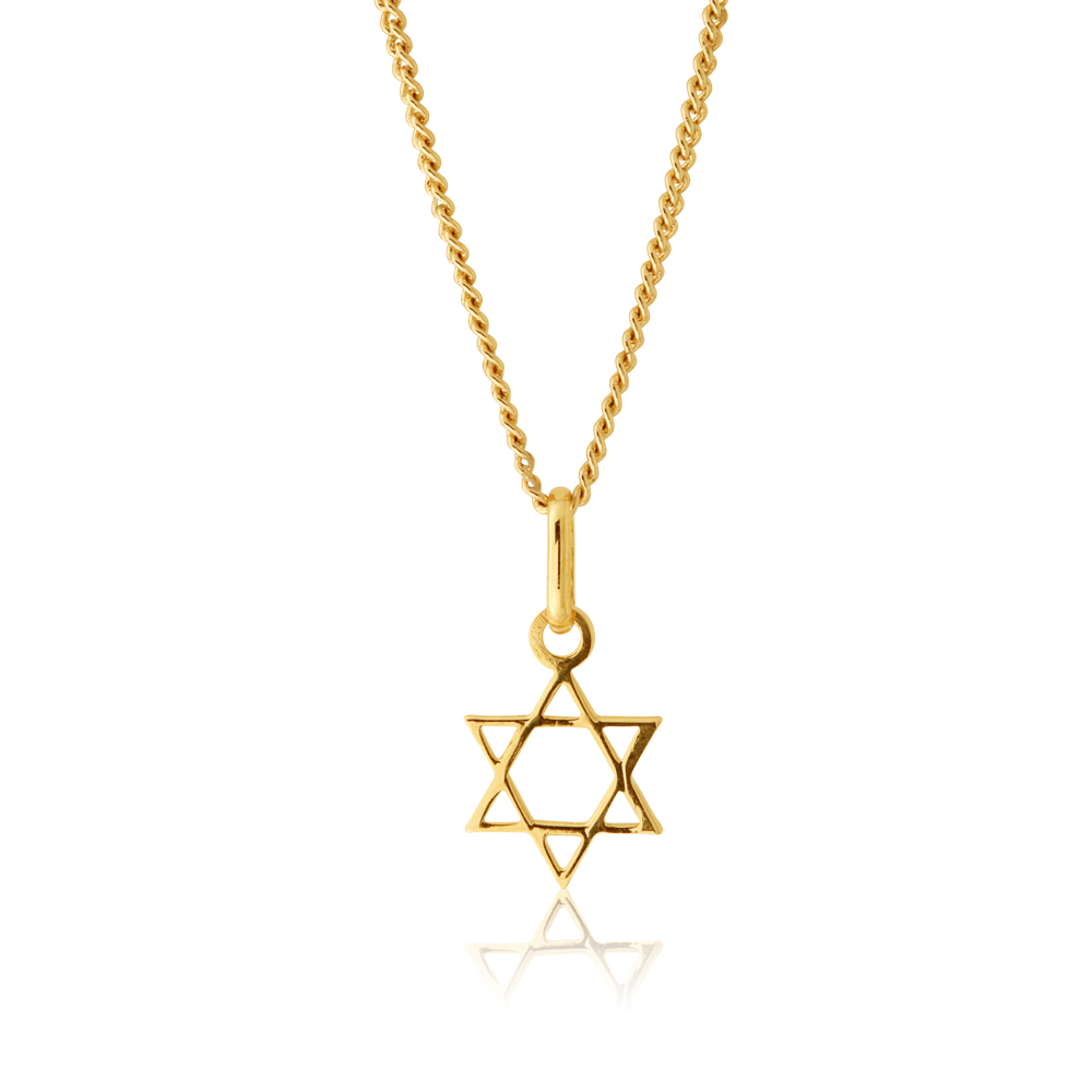 9ct Yellow Gold David's Star Pendant