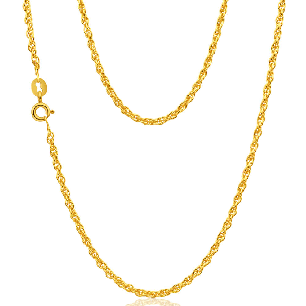 9ct Yellow Gold Silver Filled Rope Chain