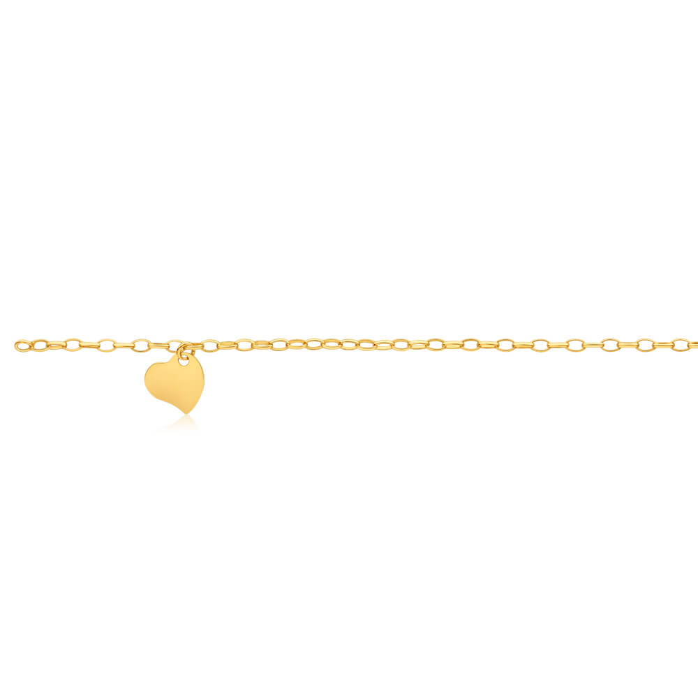 9ct Dazzling Yellow Gold Silver Filled Belcher Anklet