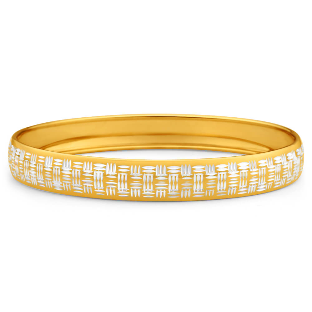 9ct Charming Yellow Gold Silver Filled Bangle