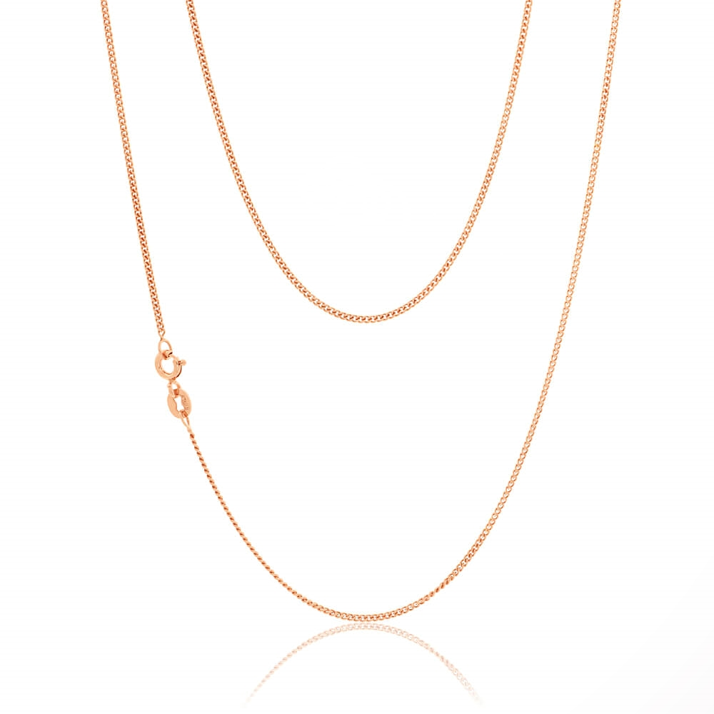 9ct Rose Gold Silver Filled 55cm  Curb Chain