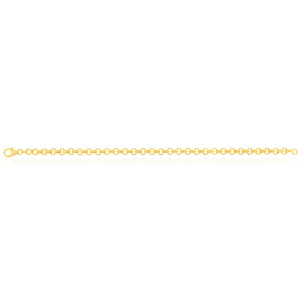 9ct Superb Yellow Gold Silver Filled Belcher Bracelet
