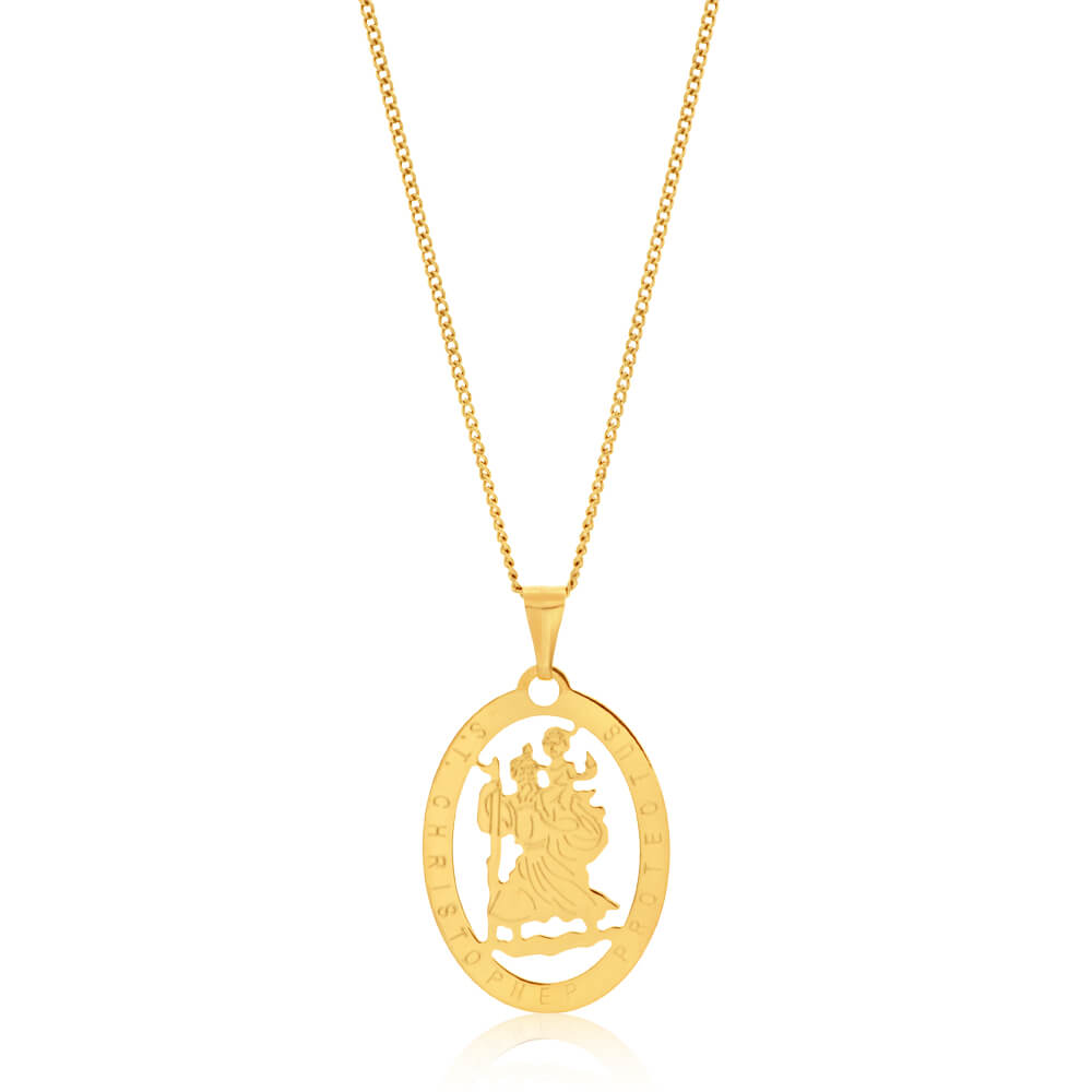 9ct Yellow Gold Silver Filled Christopher Pendant