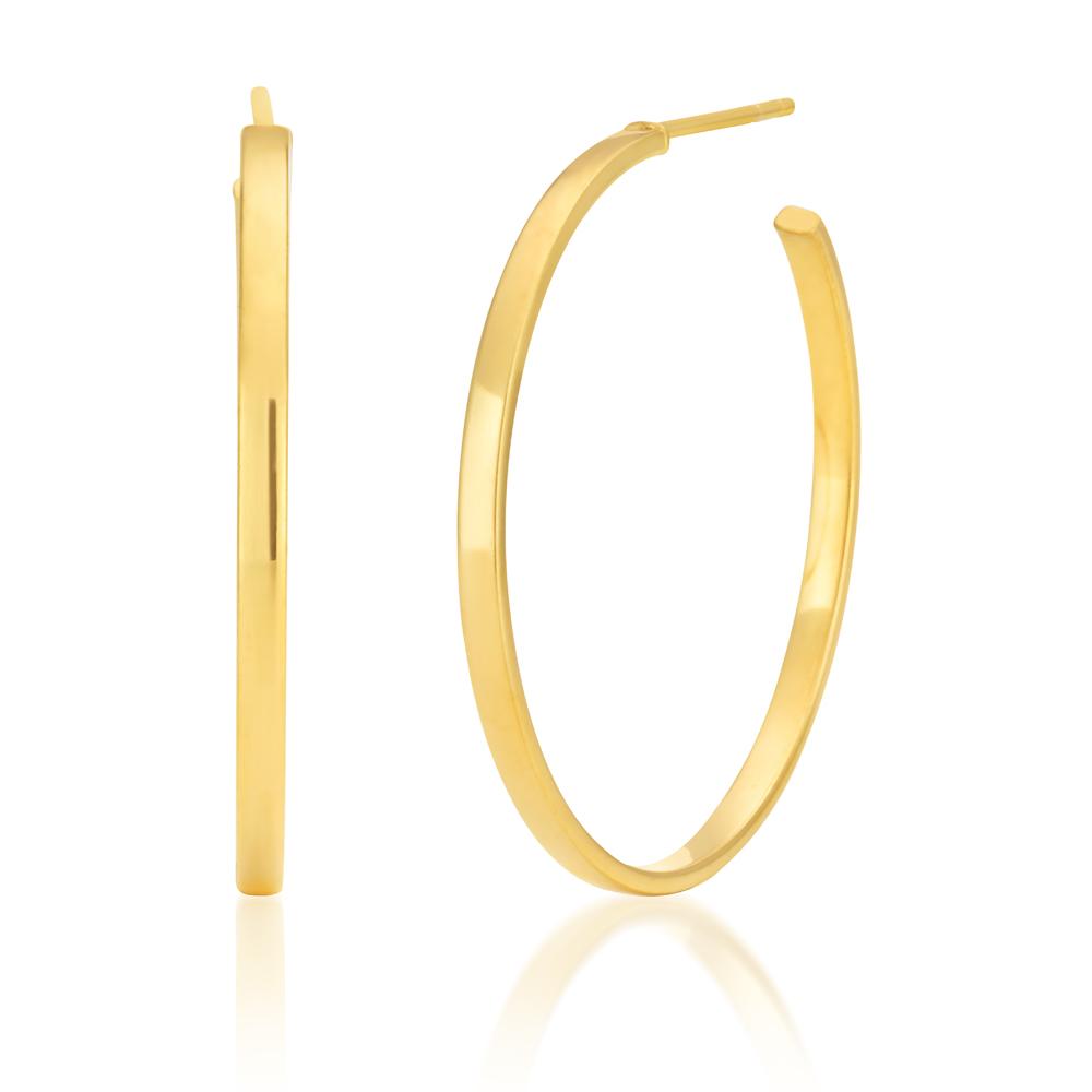 Silverfiled 30mm Half Hoop Earrings