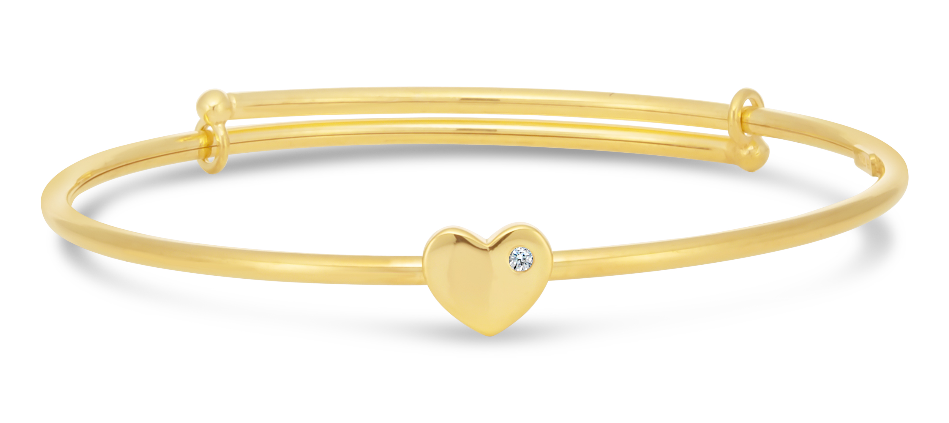 9ct Gold Filled Heart Charm Baby Bangle