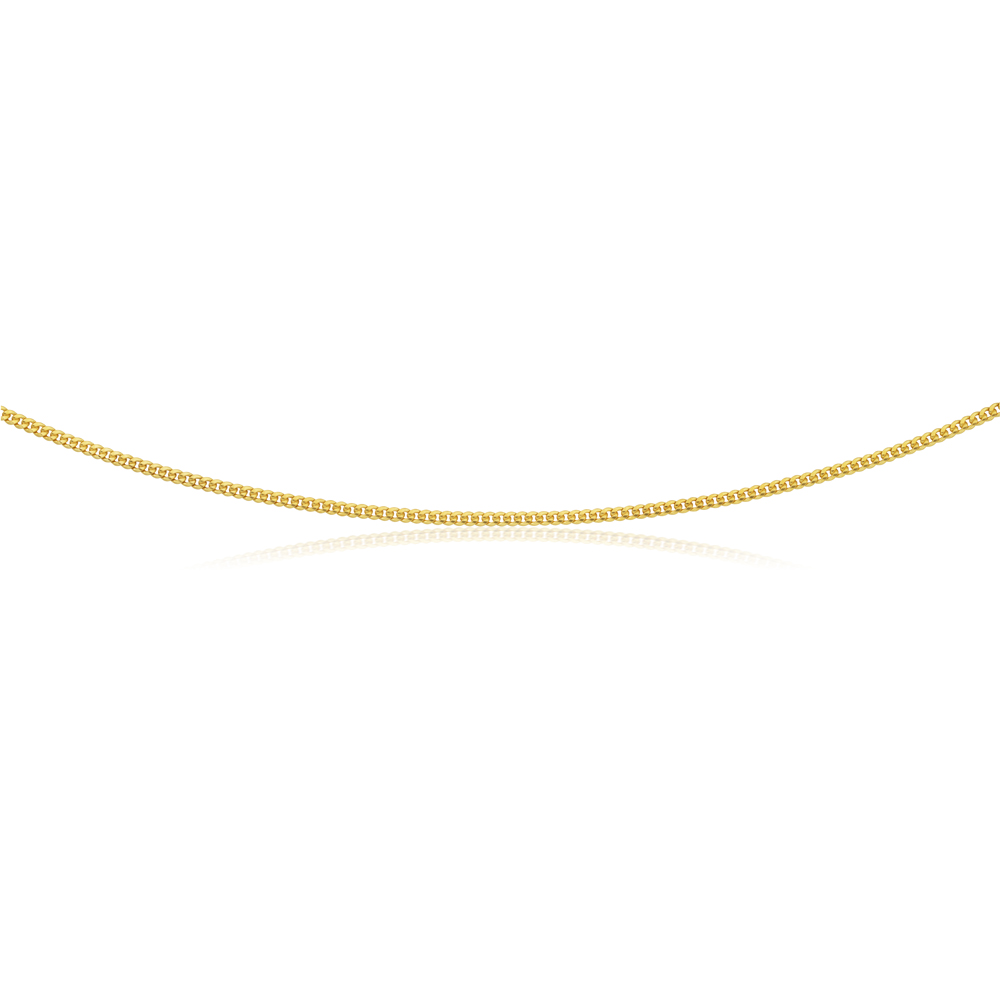 9ct Gold Filled Curb 45cm Chain 60 Gauge