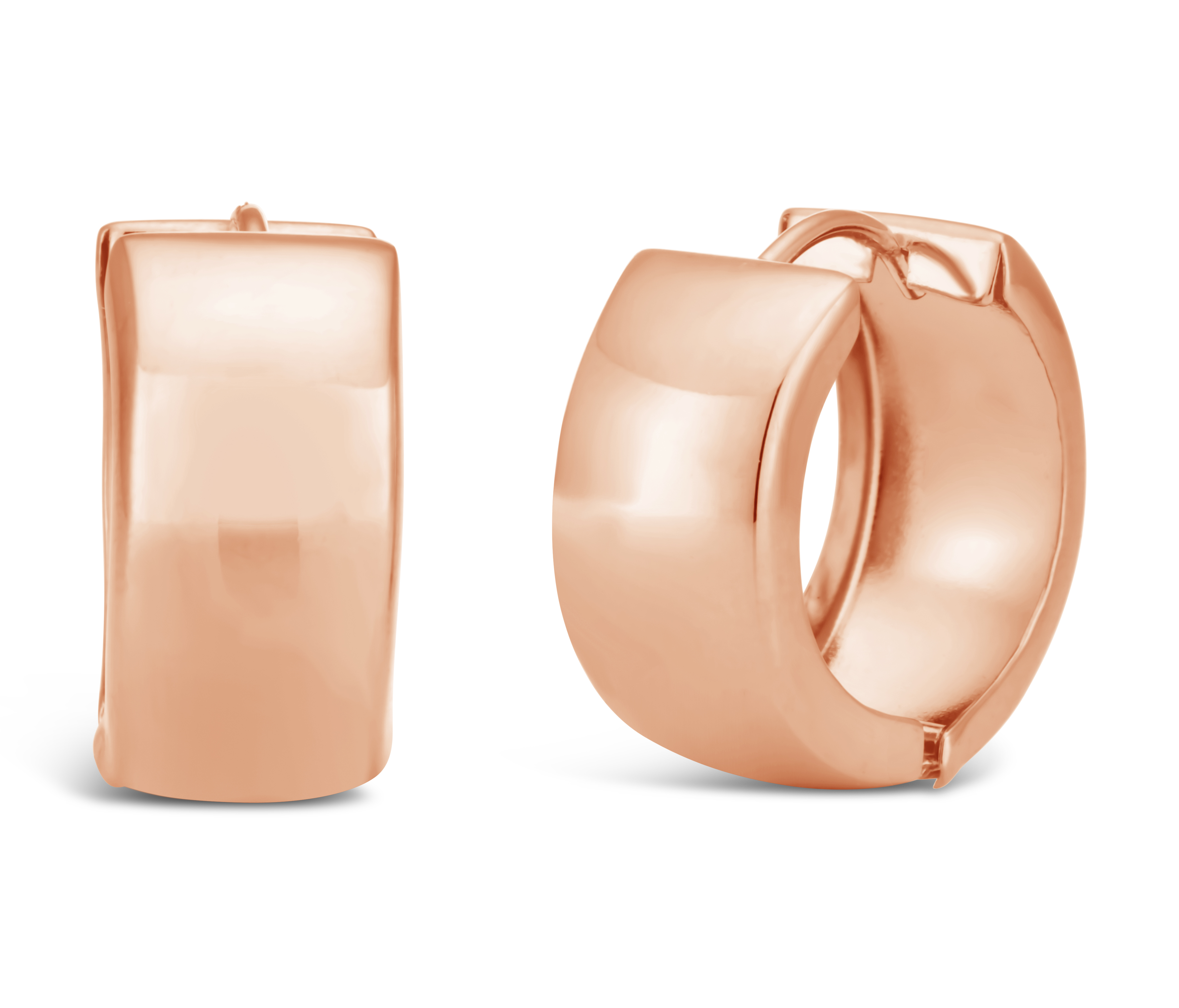 9ct Rose Gold Filled Polished Huggies Earrings