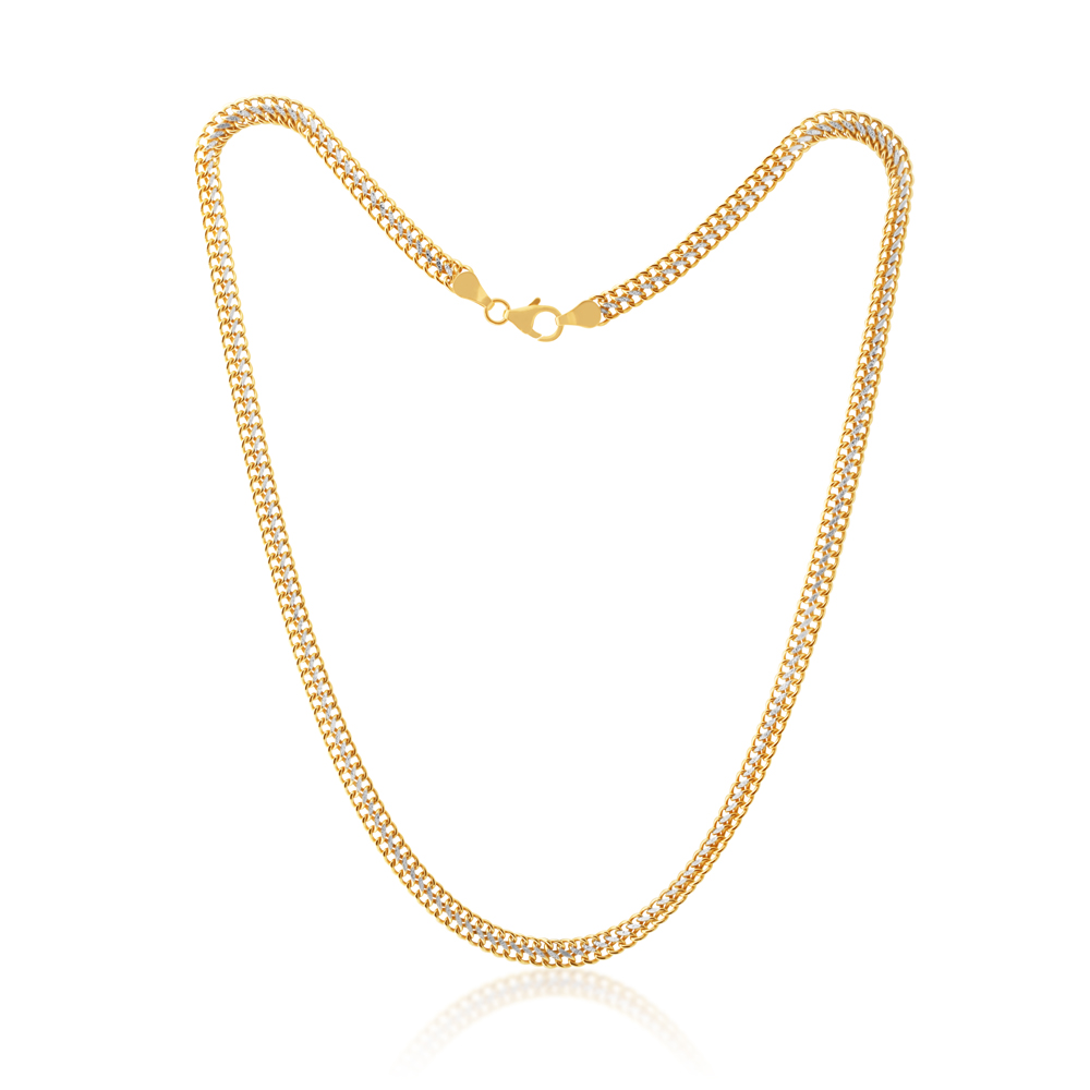 9ct Yellow Gold Silverfilled Wheat 45cm Necklace