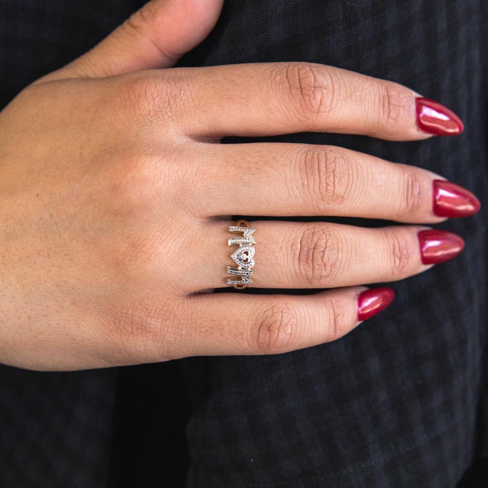 9ct Yellow Gold Beautiful Diamond Ring