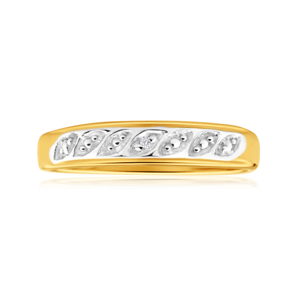 9ct Yellow Gold Sublime Diamond Ring
