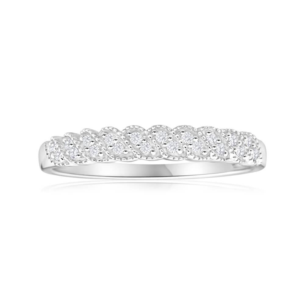 9ct White Gold Opulent Diamond Ring