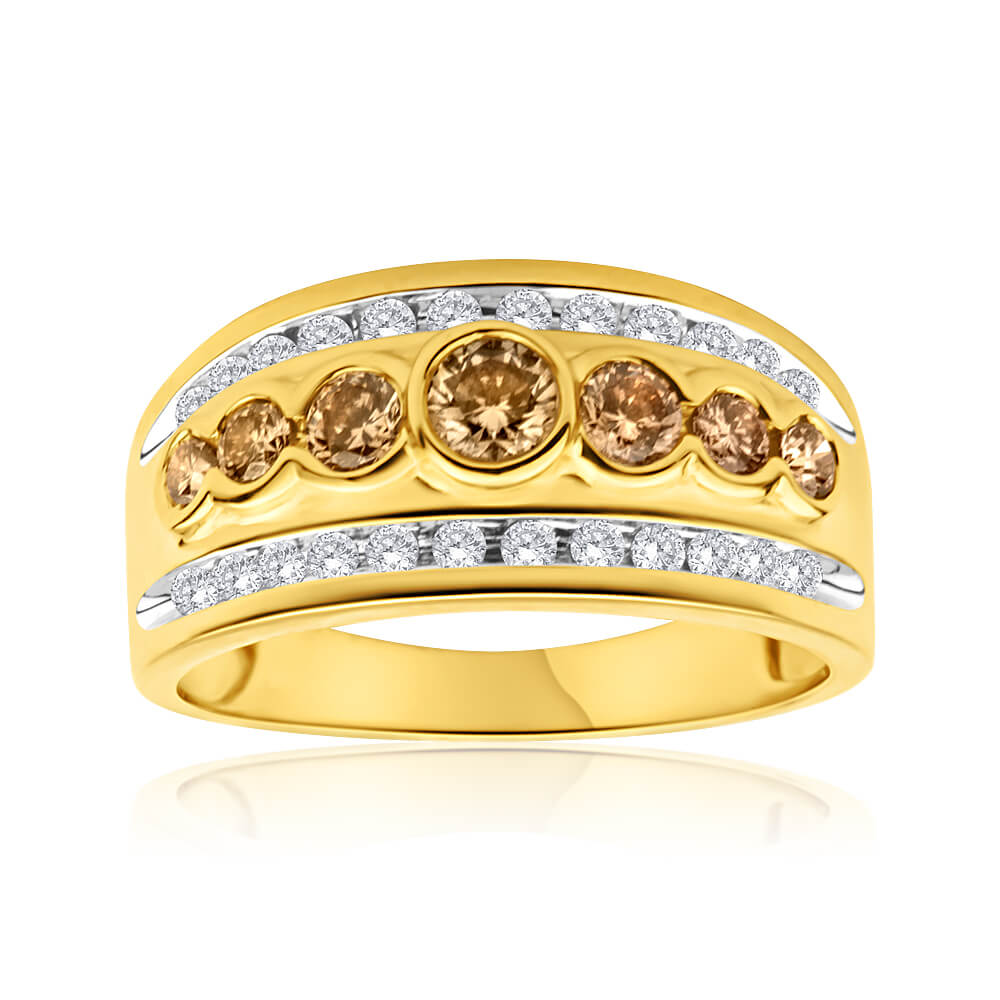 9ct Yellow Gold 1 Carat Diamond Ring with Australian Diamonds