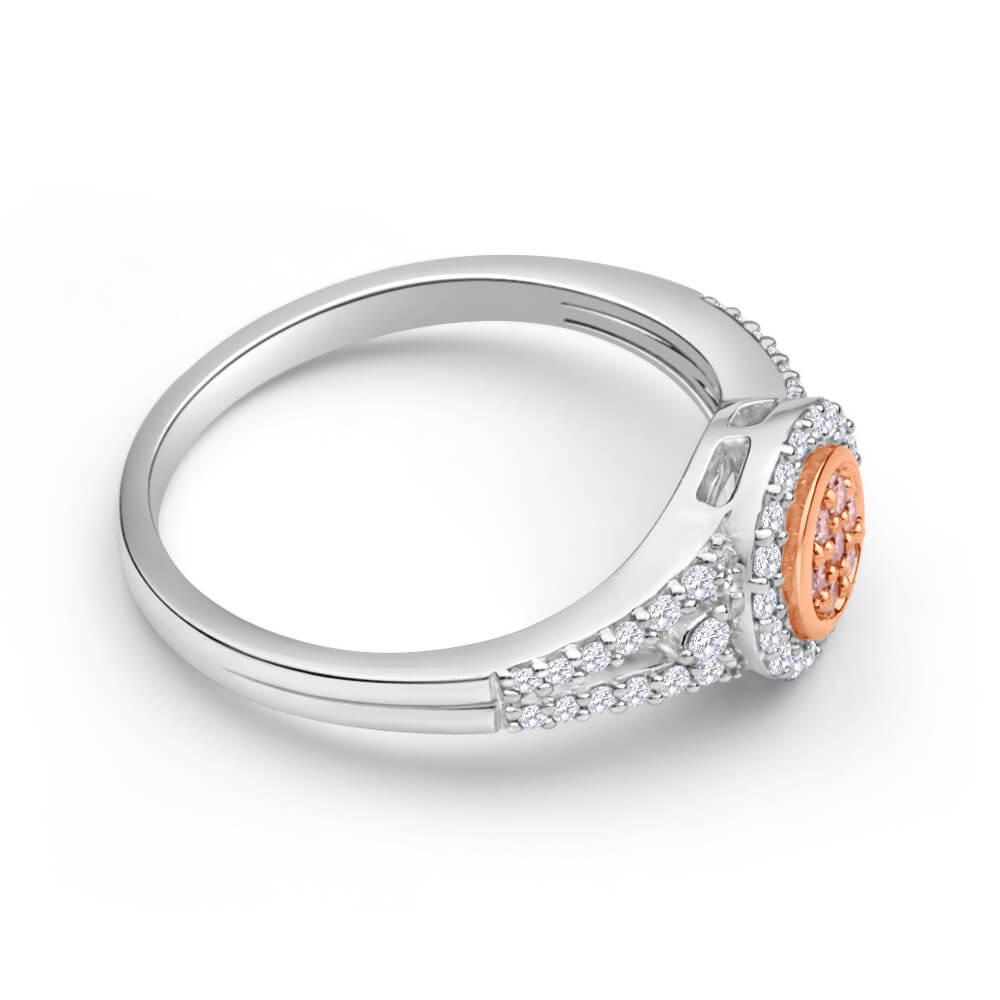 Pink Diamond 18ct White Gold Diamond Ring