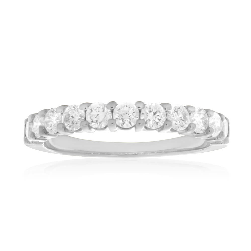 18ct White Gold 'Eden' Ring With 0.4 Carats Of Diamonds