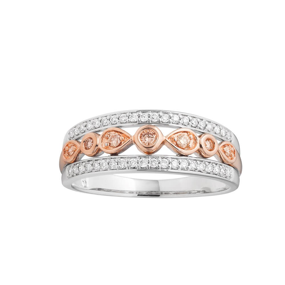Pink Diamond 9ct Rose Gold Diamond Ring