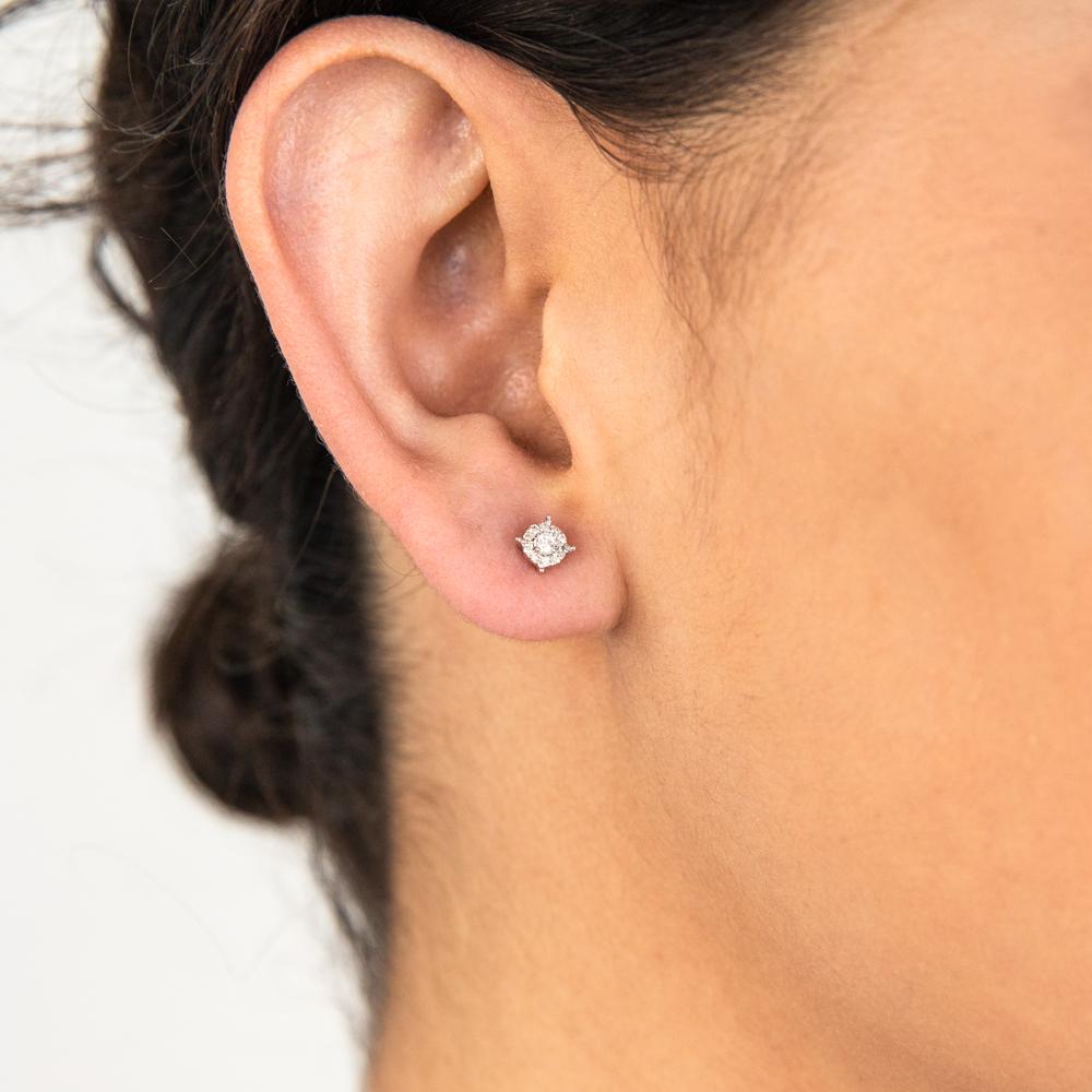 9ct White Gold Sublime Diamond Stud Earrings
