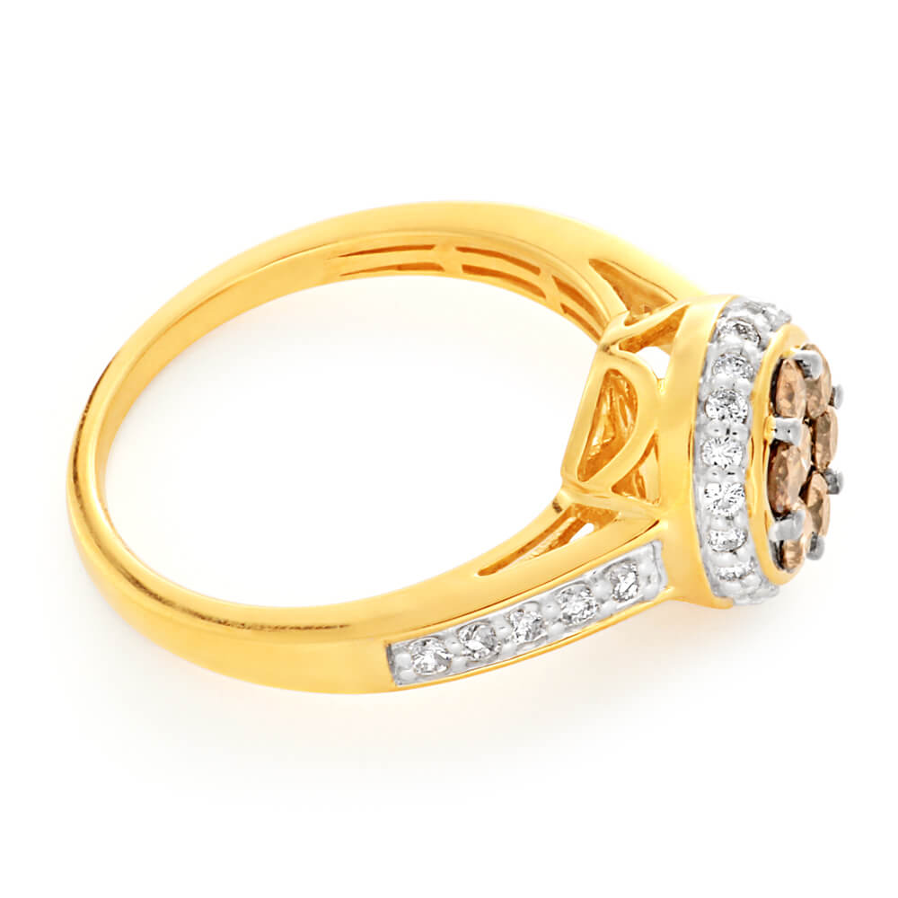 Australian Diamond 9ct Yellow Gold Diamond Ring (TW=1CT)