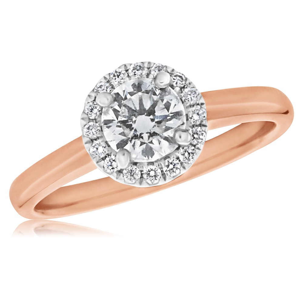 18ct Yellow Gold 0.60 Carat Diamond Solitaire Ring with 1/2 Carat Certified Centre