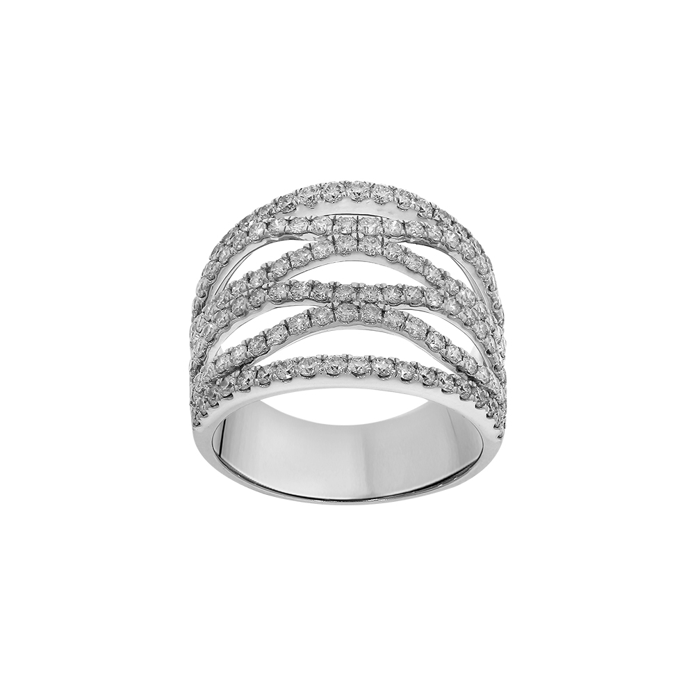 """Walks of Life"" 14ct White Gold with 2.00 Carat Diamond Ring"