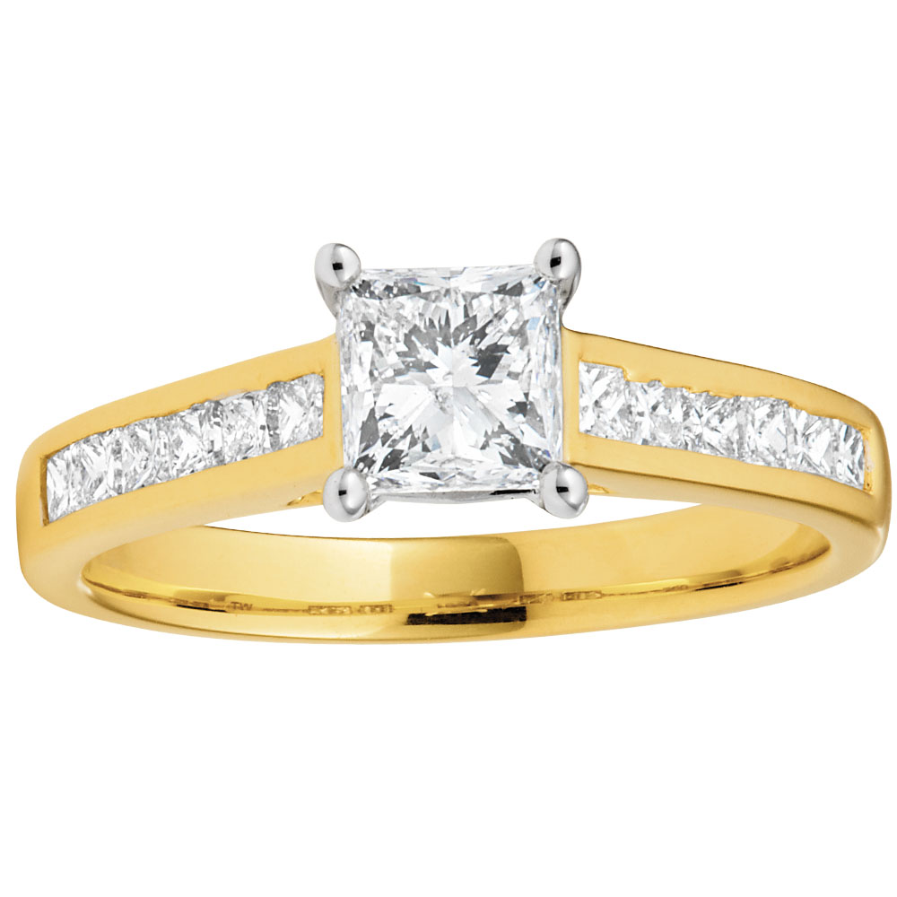 18ct 1.00 Carat Yellow Gold Ring with 0.70 Carat GI SI CERTIFIED Centre Diamond
