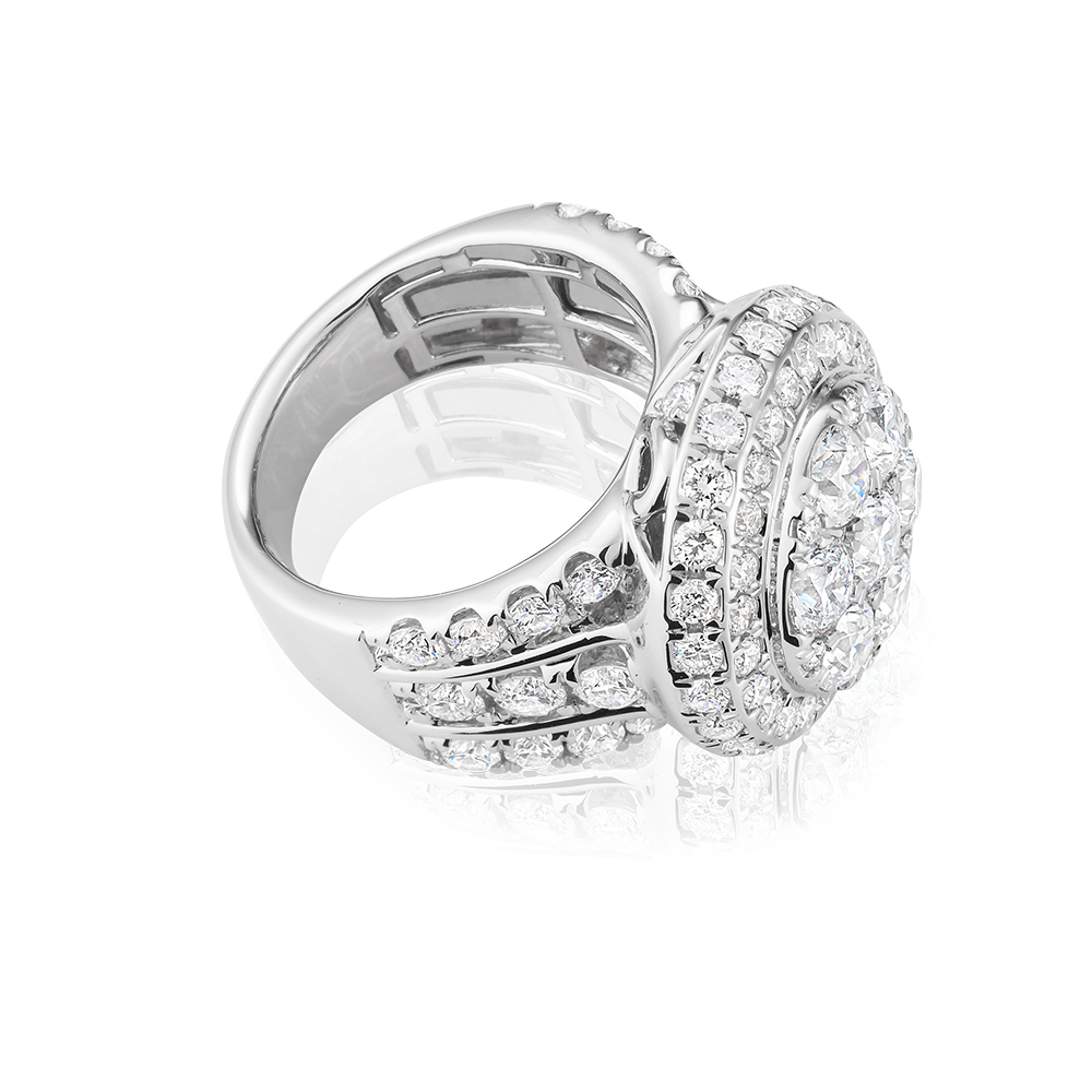 14ct White Gold 3 Ring Bridal Set With 7.00 Carats of White Diamonds