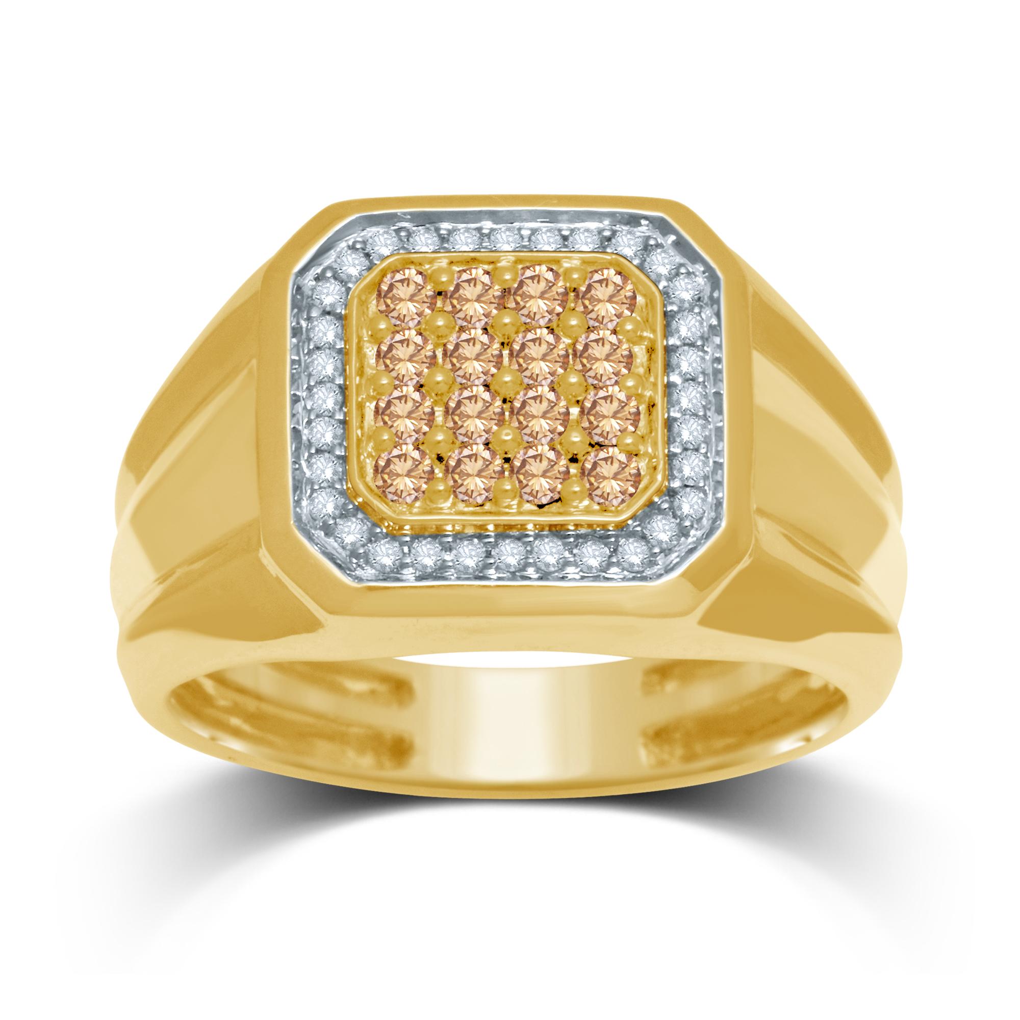 Australian Diamond 9ct Yellow Gold Gents Ring with 1/2 Carat of Diamonds