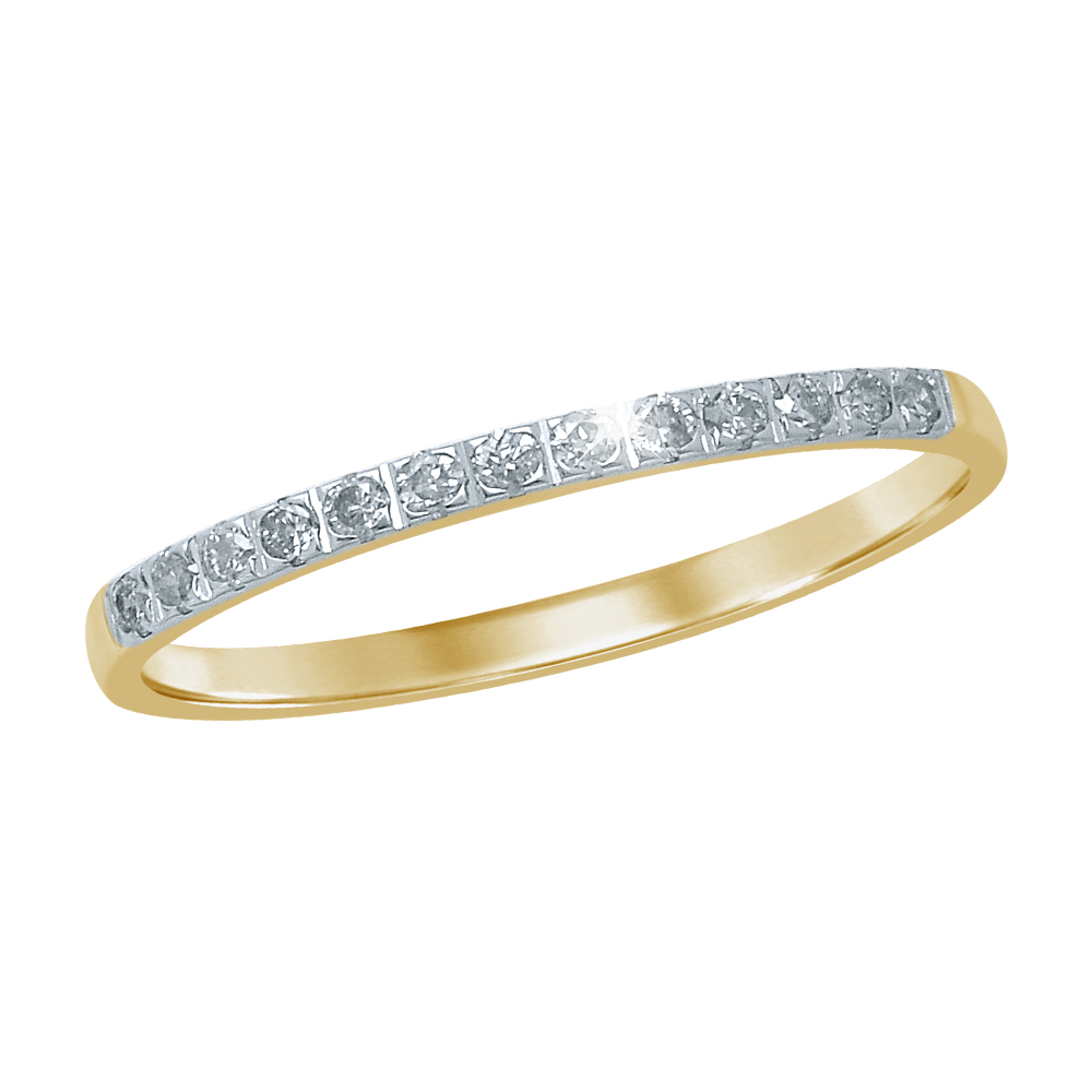 9ct Yellow Gold Eternity Ring with 13 Diamonds