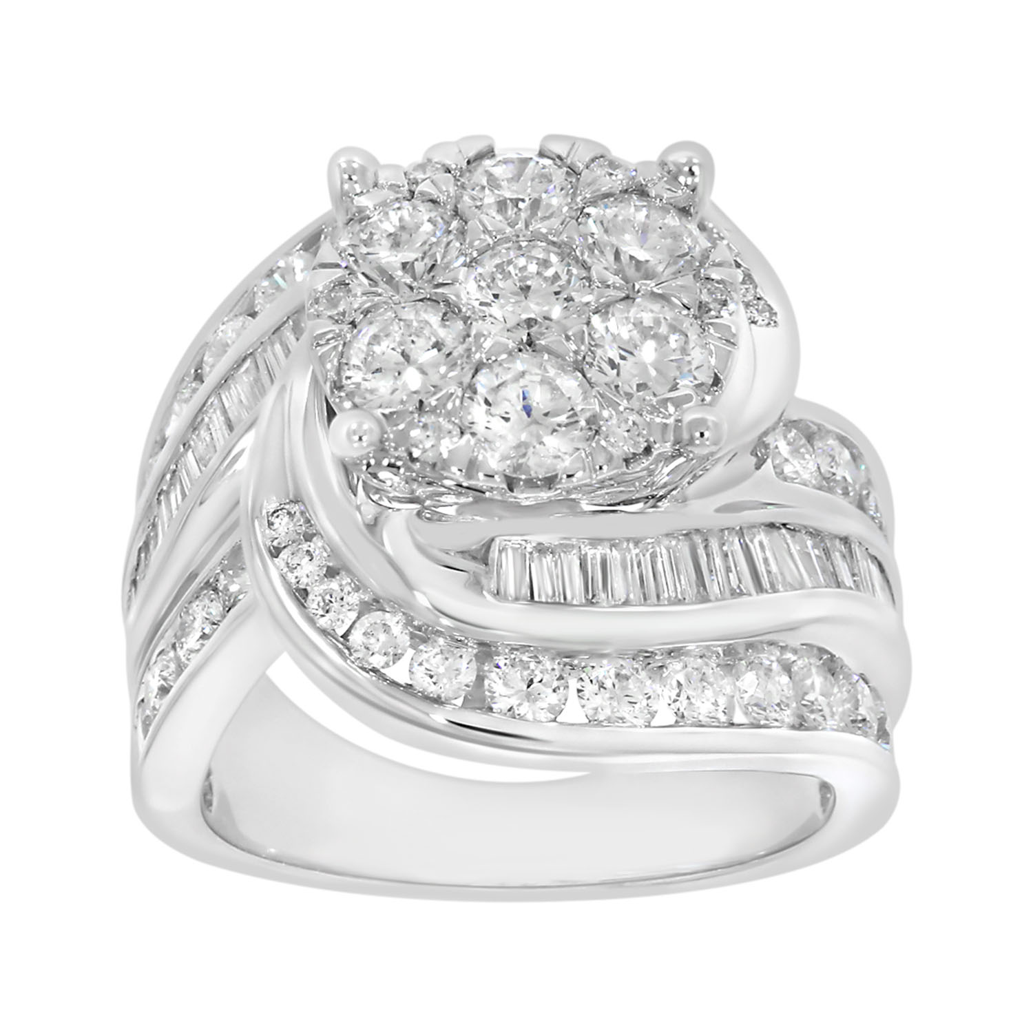 18ct White Gold 2 Carat Diamond Ring