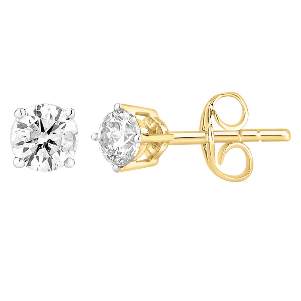9ct Yellow Gold  0.25 Carat Diamond Stud Earrings