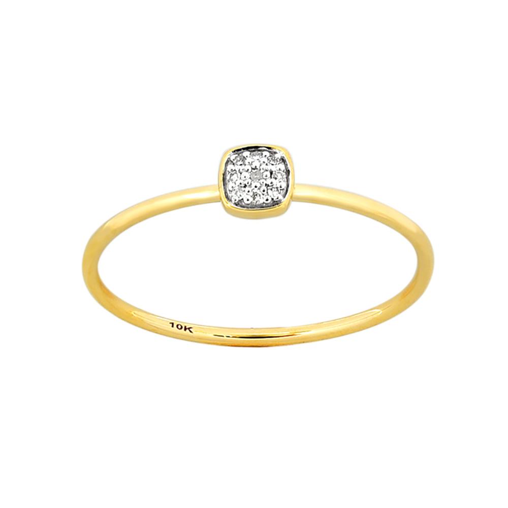 9ct Yellow Gold Diamond Ring with 8 Brilliant Diamonds