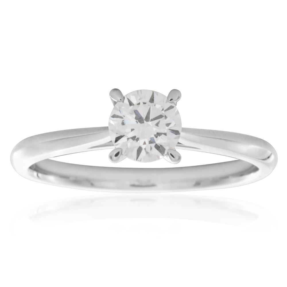 Luminesce Laboratory Grown 1/2 Carat Diamond Ring in 18ct White Gold